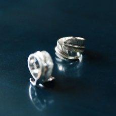画像2: 指輪/フェザーリング/羽/silver950/7号〜30号 (2)
