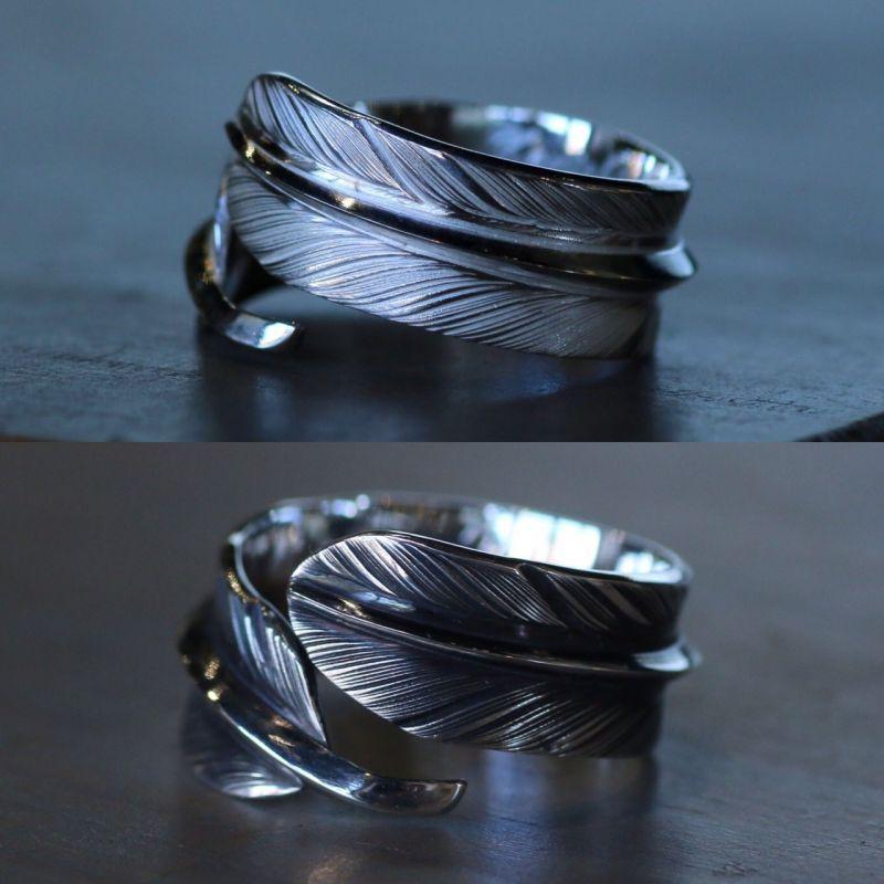 画像1: 指輪/フェザーリング/羽/silver950/7号〜30号 (1)