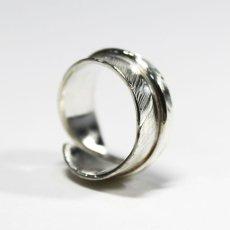 画像9: 指輪/フェザーリング/羽/silver950/7号〜30号 (9)