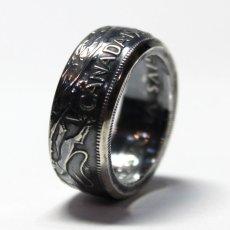 画像4: 指輪/コインリング/カナダ銀貨/大きい王冠/紋章/silver800 (4)