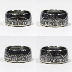 画像2: 指輪/コインリング/フランクリン銀貨/ハーフダラー/silver900 (2)