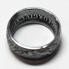 画像5: 指輪/コインリング/カナダ銀貨/大きい王冠/紋章/silver800 (5)