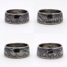 画像2: 指輪/コインリング/ケネディ銀貨/ケネディフェイス/1964年/silver900 (2)