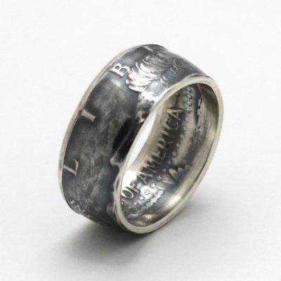 画像1: 指輪/コインリング/ケネディ銀貨/ケネディフェイス/1964年/silver900