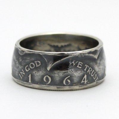 画像2: 指輪/コインリング/ケネディ銀貨/ケネディフェイス/1964年/silver900