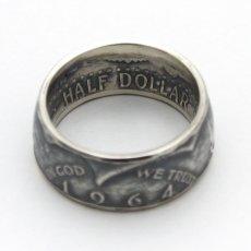 画像4: 指輪/コインリング/ケネディ銀貨/ケネディフェイス/1964年/silver900 (4)