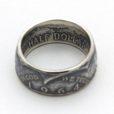 画像3: 指輪/コインリング/ケネディ銀貨/ケネディフェイス/1964年/silver900