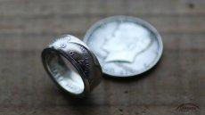 画像1: 指輪/コインリング/ケネディ銀貨/ケネディフェイス/1964年/silver900 (1)