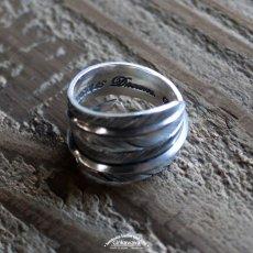 画像7: 指輪/ダブルフェザーリング/Silver/シルバーアクセサリー/silver950 (7)