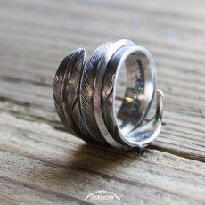 画像8: 指輪/ダブルフェザーリング/Silver/シルバーアクセサリー/silver950 (8)