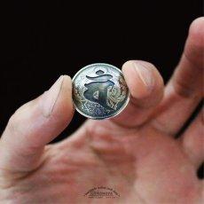 申年 梵字銀貨コンチョ