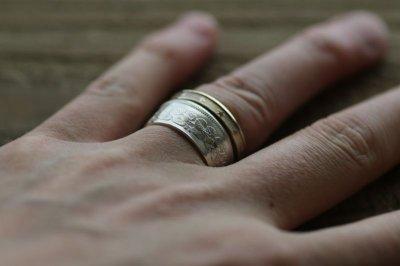 画像1: 指輪/スターコインリング/真鍮