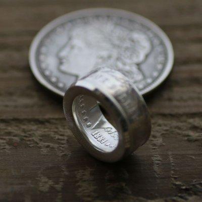 画像3: 指輪/平打ちリング/モルガンコインリング/モルガンダラー銀貨/silver900