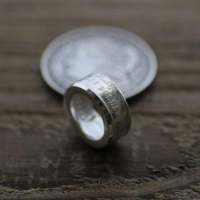 画像1: 指輪/平打ちリング/モルガンコインリング/モルガンダラー銀貨/silver900