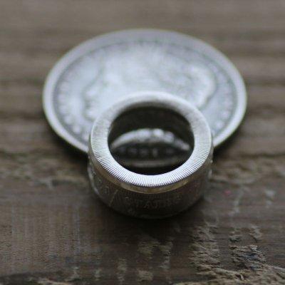 画像2: 指輪/平打ちリング/モルガンコインリング/モルガンダラー銀貨/silver900
