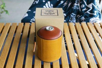 画像3: ガスカートリッジカバー/OD缶カバー/キャンプ用品/アウトドア用品/革製/ヌメ革