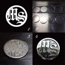 画像1: オリジナル金具/オーダーメイドコンチョ/真鍮コンチョ/シルバーコンチョ (1)