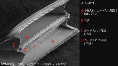 画像2: 【フルオーダーメイド】 長財布/ロングウォレット/L字ファスナー仕様/カスタム/オリジナル/一点もの