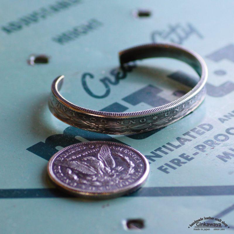 画像1: ブレス/コインバングル/モルガンダラー銀貨/silver900/ (1)
