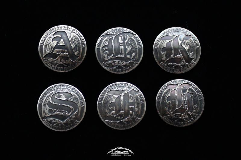 アルファベット銀貨コンチョ