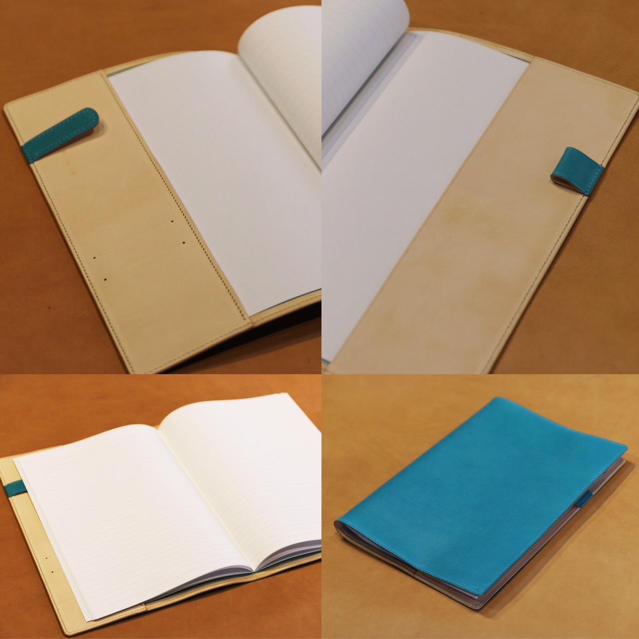画像1: 【フルオーダーメイド】B5サイズノートカバー (1)