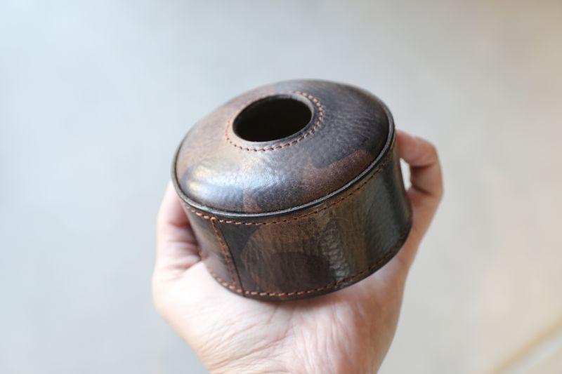 カモフラ柄のOD缶カバー