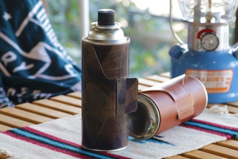 画像1: ガスカートリッジカバー/CB缶カバー/キャンプ用品/アウトドア用品/革製/ヌメ革 (1)