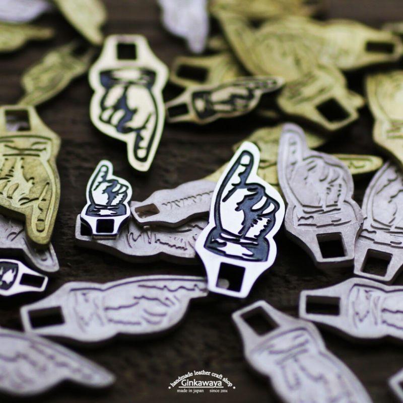 画像1: 指差し引き手/銀革屋オリジナル (1)